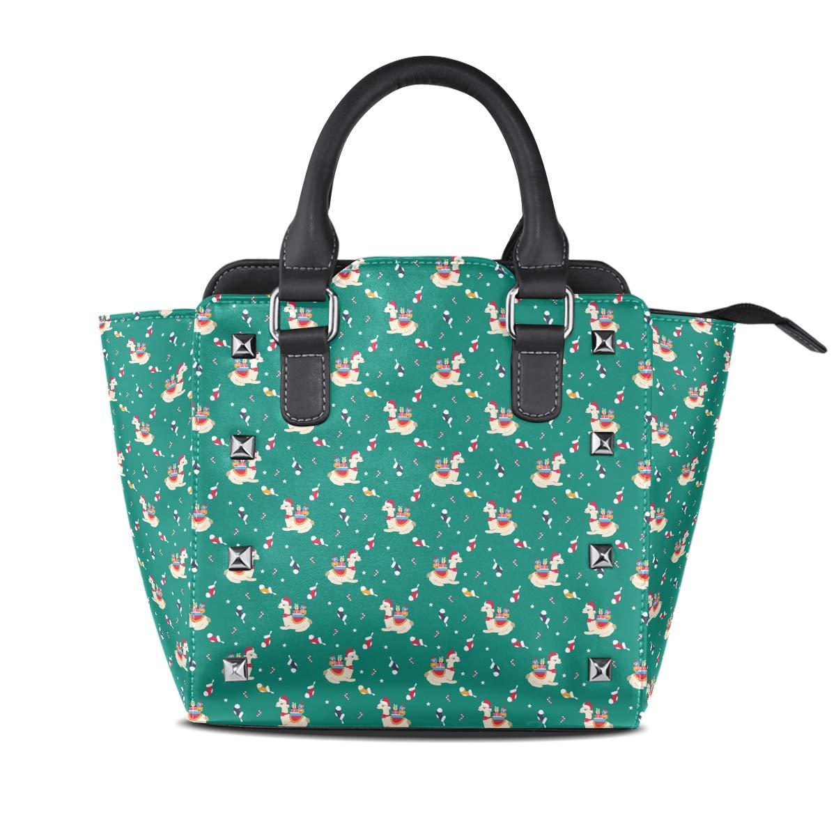 Design5 Handbag colorful Plaid Genuine Leather Tote Rivet Bag Shoulder Strap Top Handle Women
