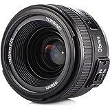Yongnuo YN35mm F2N Objetivo Focal Fijo de 35 mm Enfoque AF/MF con Visi¨®n Gran Angular para c¨¢mara Nikon + TARION Bolsa