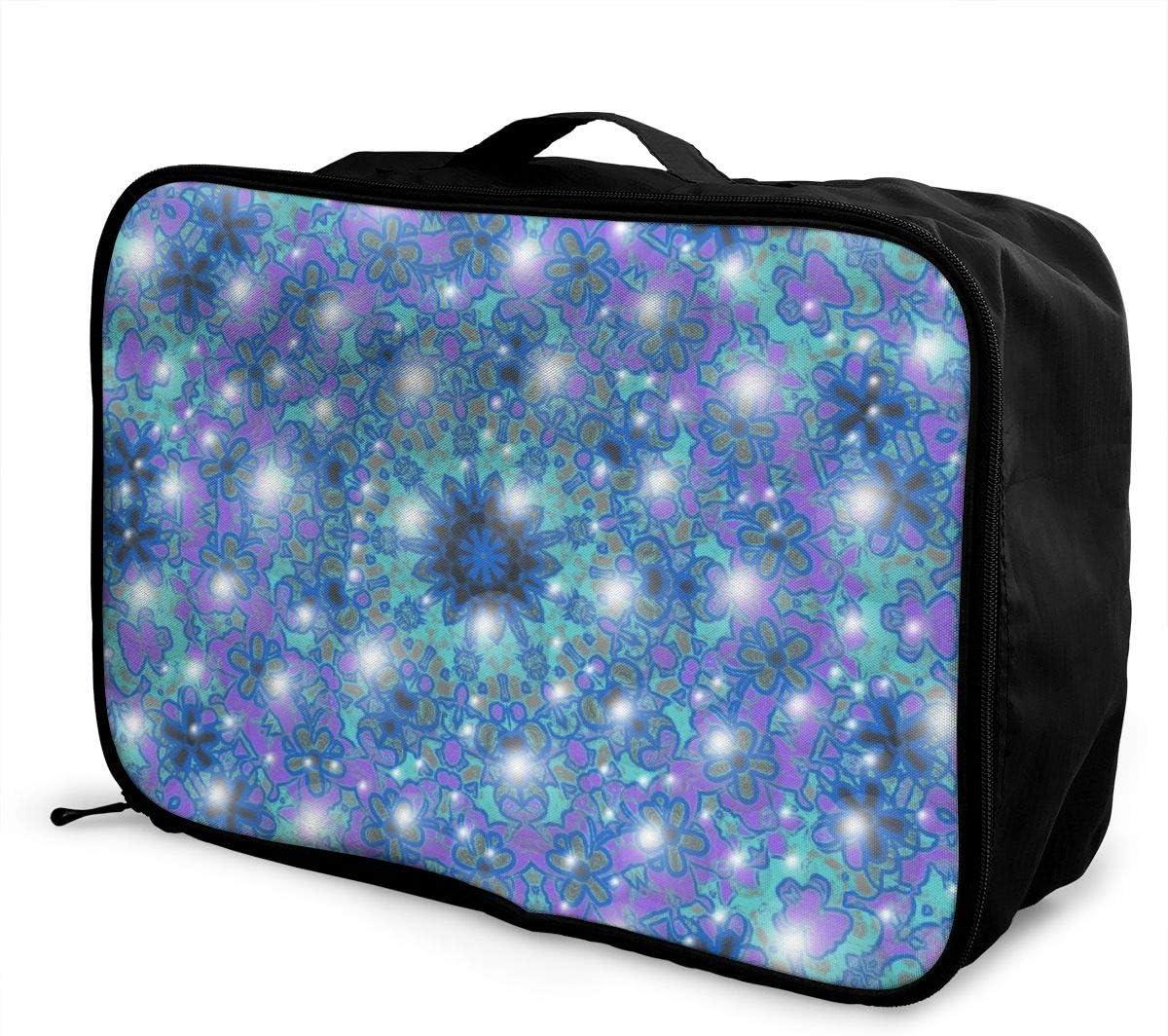 Yunshm Galaxy Kaleidoscope Warp Personalized Trolley Handbag Waterproof Unisex Large Capacity For Business Travel Storage