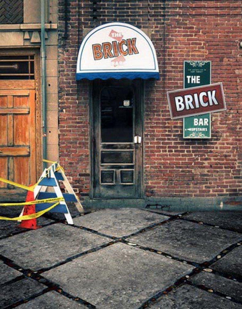レンガ建物写真Backdrops写真小道具Studio背景5 x 7ft   B01GBFROHE