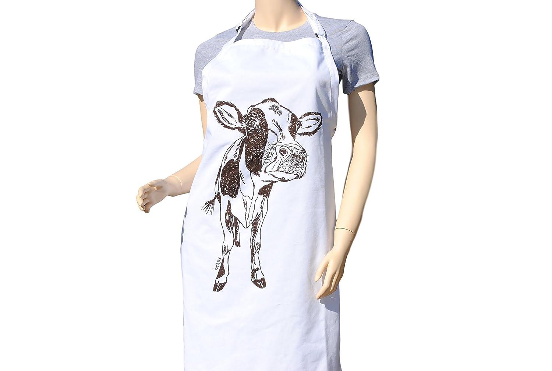Kitchen Apron - Baking Apron - Cute Apron - Large Apron - Brown Cow Apron