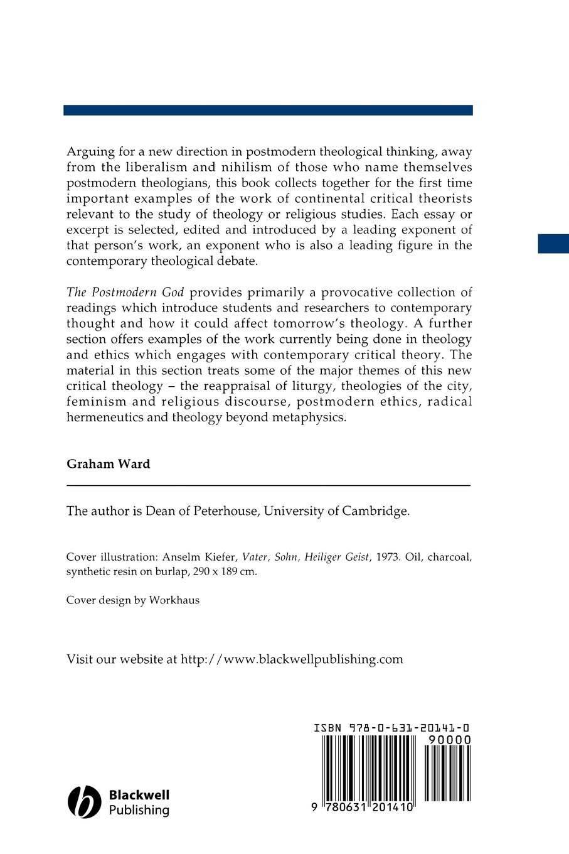The Postmodern God: A Theological Reader: Graham Ward: 9780631201410:  Amazon.com: Books