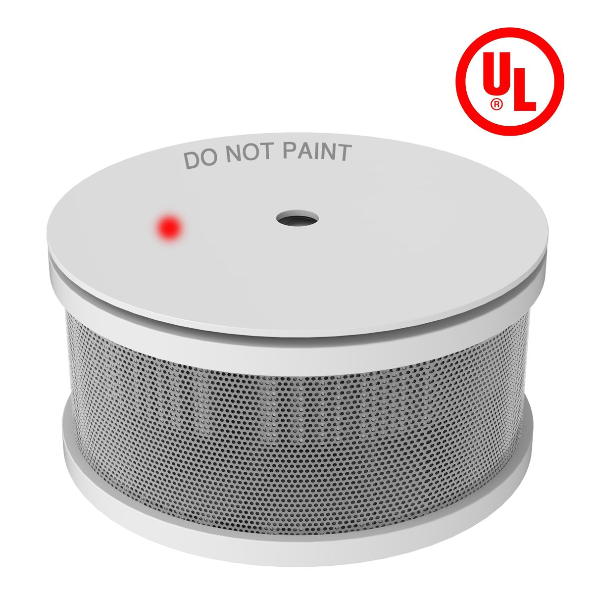 UL Listed Mini Smoke Alarm, Ardwolf Photoelectric Smoke Detector with Lithium Battery Power, 10-Years Service Time, GS521C Fire Alarm Work for Home, School, Hotel, Hospital, Warehouse