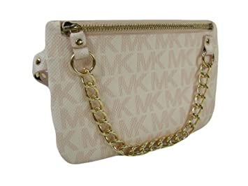 c4ca1d5c7641 Image Unavailable. Image not available for. Color: New Michael Kors MK Logo  Fanny Pack ...