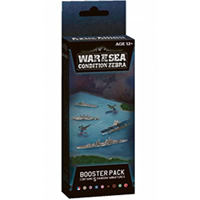 Axis and Allies Naval Miniatures War at Sea Condition Zebra Booster Pack Game Expansion: Wizards Miniatures Team: Toys & Games