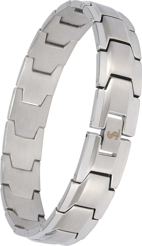 Smarter LifeStyle Elegant Surgical Grade Steel Men's Wide Link Stylish Bracelet, 4 Colors to Choose from SL15MM316LB