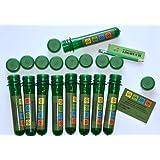 10 x Petling - Logbuch - Stift komplett Set Paket Geocaching Cache Versteck grün 13 cm.