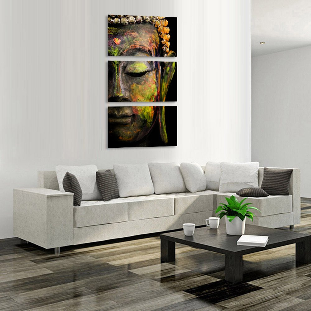 Amazon.com: Buddha wall art abstract Buddhist canvas print art home ...