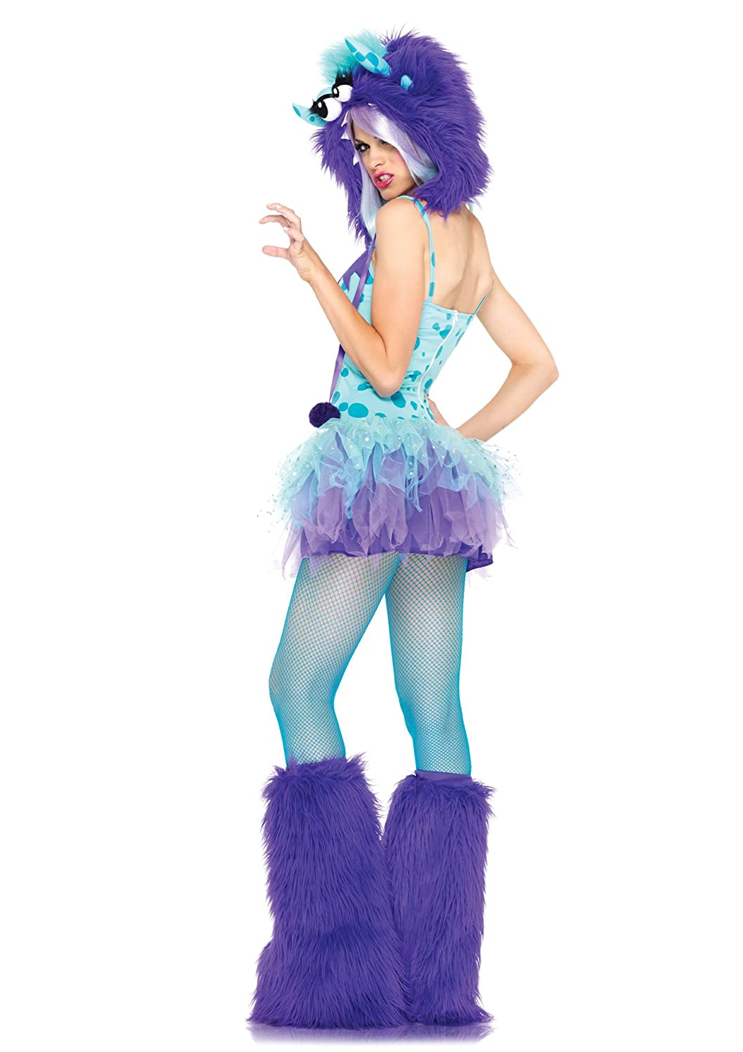 Amazon.com Leg Avenue Womenu0027s 2 Piece Polka Dotty Monster Costume Aqua/Purple X-Small Clothing  sc 1 st  Amazon.com & Amazon.com: Leg Avenue Womenu0027s 2 Piece Polka Dotty Monster Costume ...