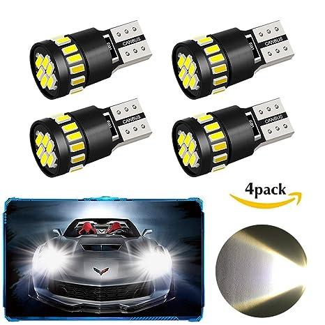 Paquete 4 T10 W5W 21 x 4014 bombillas LED para el coche, Oladwolf luces LED