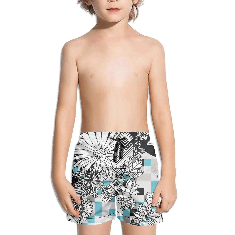 Ouxioaz Boys Swim Trunk Watercolor Sunflower Floral Beach Board Shorts
