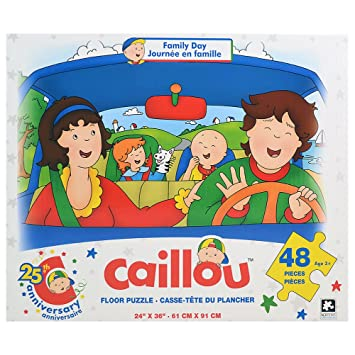 Caillou Floor Puzzle 48 Pieces Family Day By Caillou Amazon Es