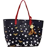 Wonder Woman Logo and Stars Oversized Tote Bag