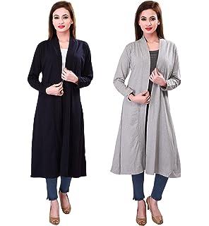 Bfly Women s Viscose Long Shrug (Black)  Amazon.in  Clothing ... abf003c5c
