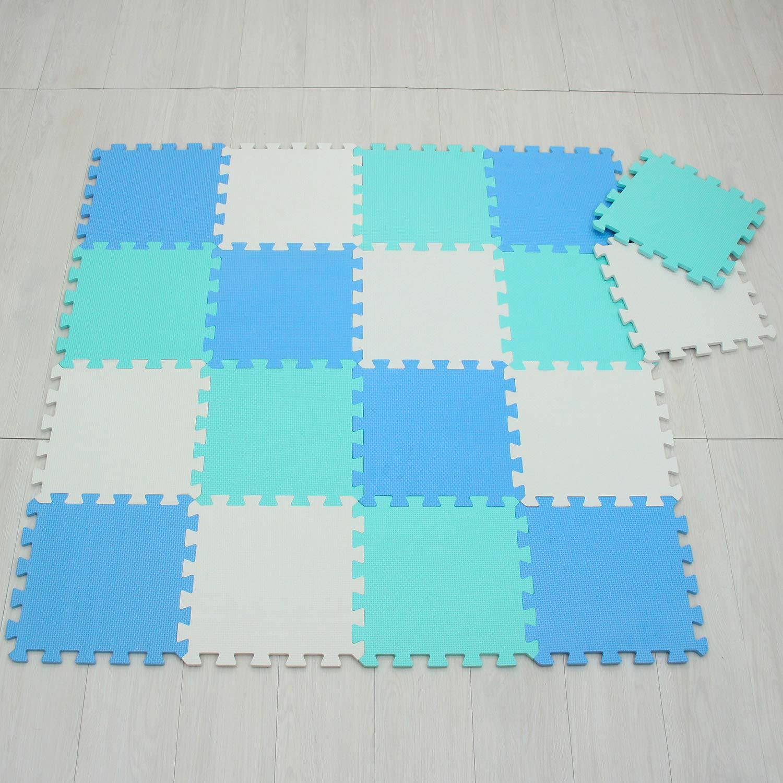 meiqicool Alfombras Puzzle para Beb/é Alfombrilla Ni/ño Suelo Goma EVA,Alfombra Puzle 1.62㎡ Ni/ños Goma Espuma Estera Juego Puzzle Amarillo Azul y Morado 050711