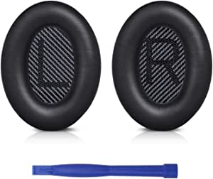 Professional Replacement Ear Pads Cushions, Earpads Compatible with Bose QuietComfort 35 (Bose QC35) and Quiet Comfort 35 II (Bose QC35 II) Over-Ear Headphones (Black)