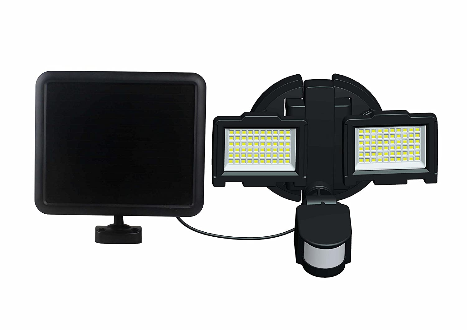 Nature Power 23401 120 LED Dual Lamp Outdoor Motion Activated Solar Security Light with Corner Mount