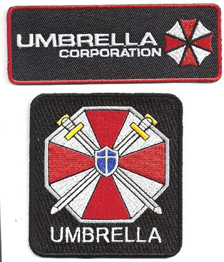 Resident Evil Umbrella Corporation Logo Iron on Patch set of 2 Iron on