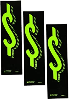 Donkey Auto Products Vinyl Highlights Windshield Slogans Window Stickers 4x4 12 per Pack Black Text On Fluorescent Green 14-1//2 x 2-3//4