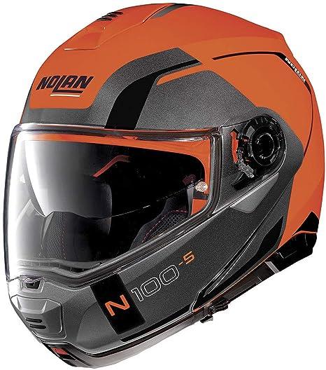 Casco Nolan N100 5 Consistency N-Com Flat LED naranja 27