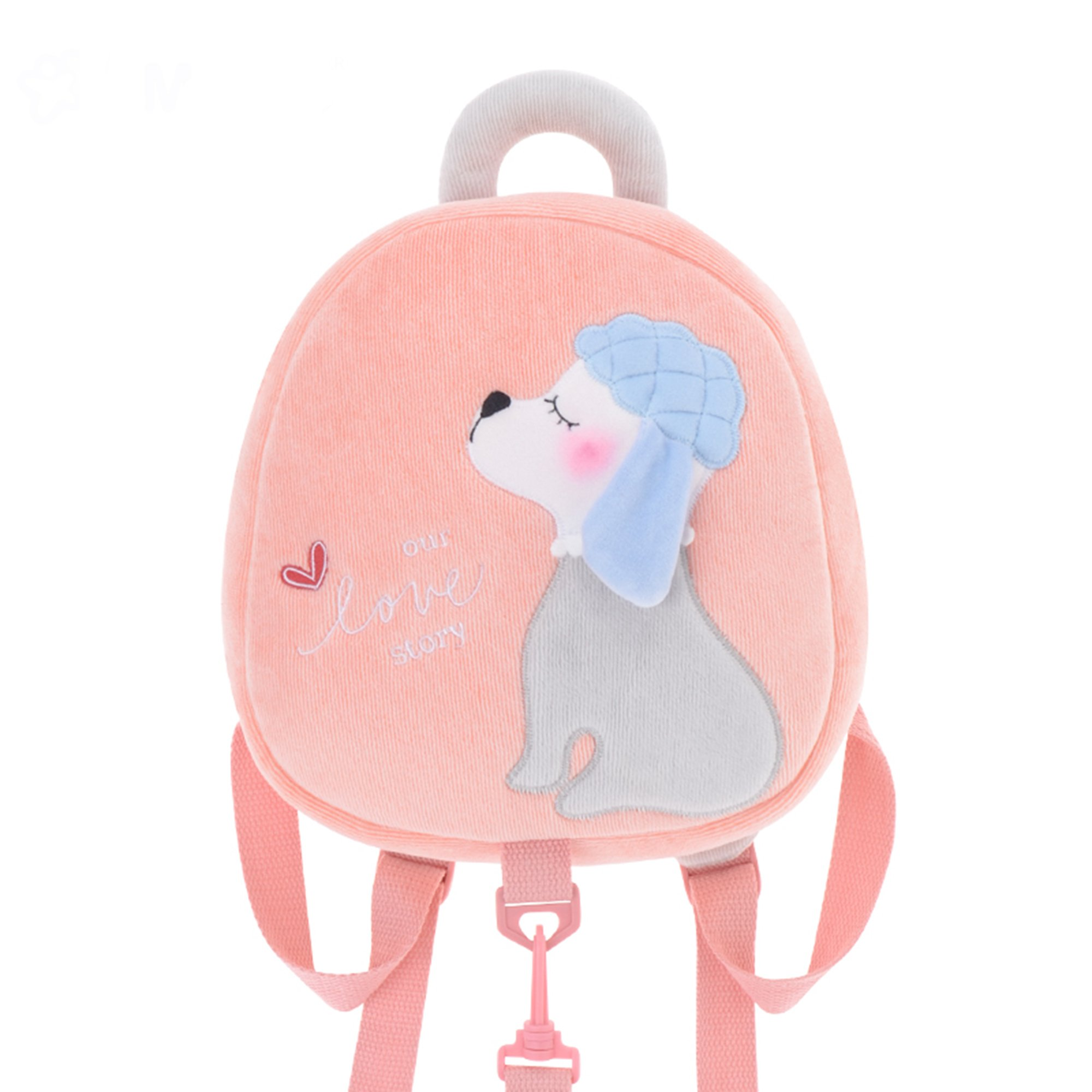 Me Too Kids Leash Bags Toddler Plush Backpack with Safety Harness Playful Preschool Kids Diaper Bag for Little Children(12-36M) Pink Poodle Dog 10.5''