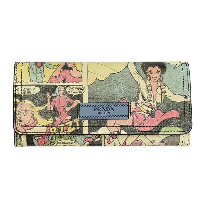 382904856d73a2 2018SS New Prada Comics Print Leather Bi-fold Long Wallet 1MH132 Lago:  Amazon.ca: Clothing & Accessories