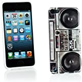 Kit Me Out FR Coque en gel TPU pour Apple iPod Touch 5 / Touch 6 - multicolores imitation radiocassette