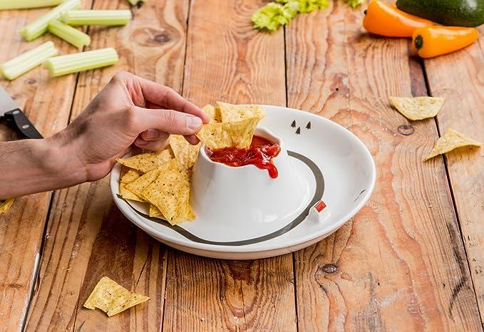 SUCK UK Dip Bowl Cuenco para Salsas Volcán, Cerámica, Multicolor: Amazon.es: Hogar