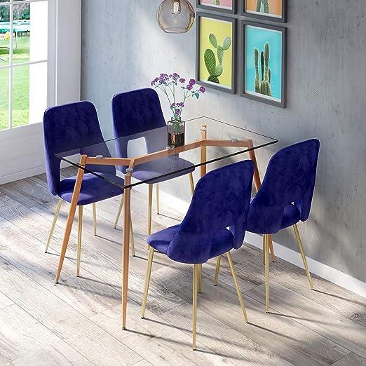 jstratedoutlet - Juego de Mesa y sillas de Comedor (4 sillas ...