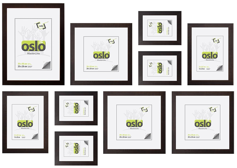 Amazon.de: OSLO MasterLine Bilderrahmen 15x20 braun Holzrahmen mit ...