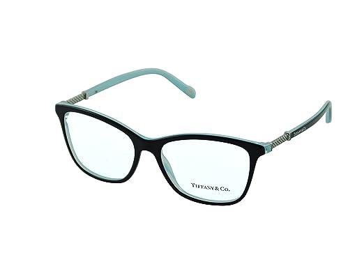 7320e2c46e2c Amazon.com  Eyeglasses Tiffany TF 2116B 8193 BLACK STRIPED BLUE ...