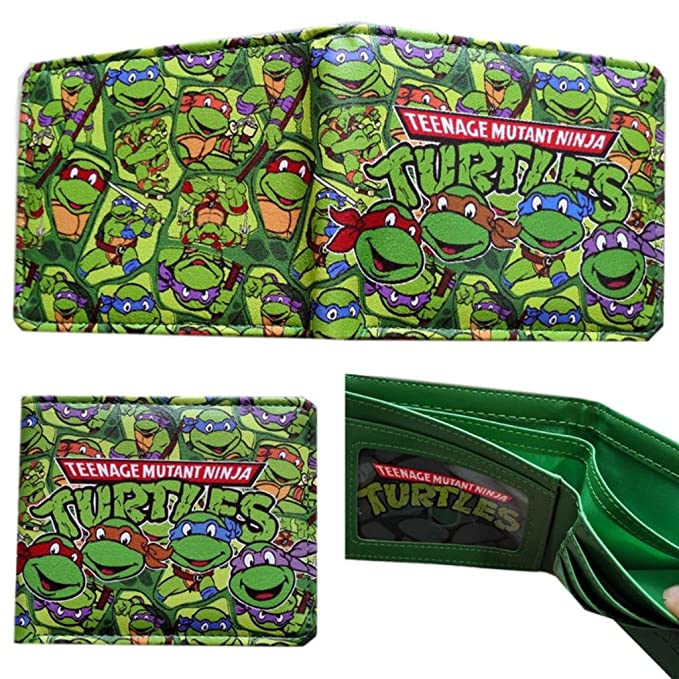 TMNT Teenage Mutant Ninja Turtles Bifold Mens Boys Wallet w ...