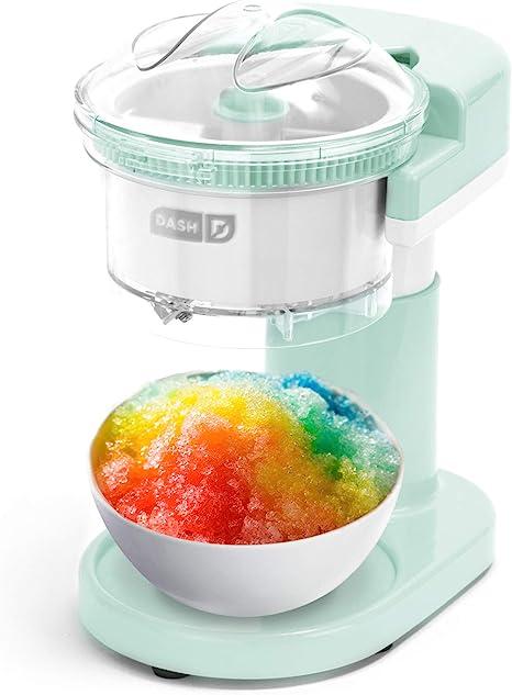 Amazon.com: Dash DSIM100GBAQ02 Shaved Ice Maker + Slushie Machine with  Stainless Steel Blades for Snow Cone, Margarita + Frozen Cocktails,  Organic, Sugar Free, Flavored Healthy Snacks for Kids & Adults, Aqua:  Kitchen