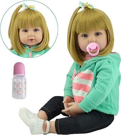 Muñeca realista de Silicona de 22 inch Vinilo suave Reborn Baby Girl.