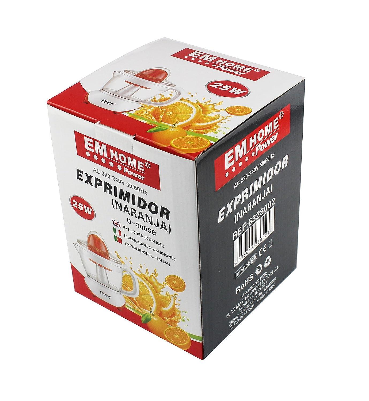 EM HOME Exprimidor Citricos Eléctrico Ultracompacto, 25W ...