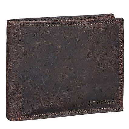 STILORD Franco Cartera de auténtica Piel para Hombre diseño Vintage Billetera y Monedero con Ranuras para Tarjetas Billetes DNI de Cuero Genuino, ...