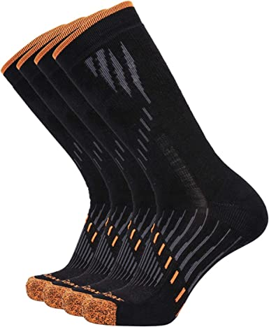 6//10 Packs Enerwear Men/'s Cotton Moisture Wicking Heavy Cushion Crew Socks