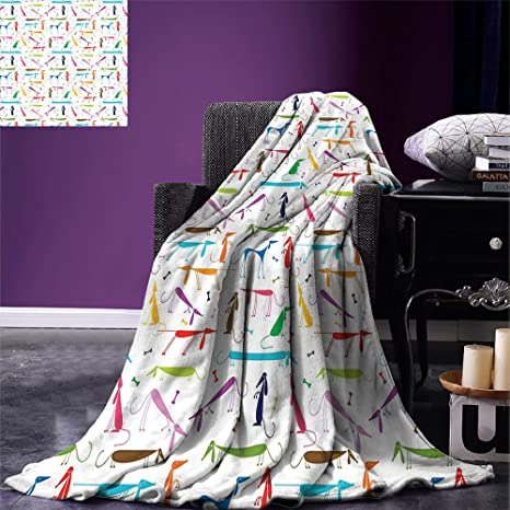Awesome Smallbeefly Dog Lover Throw Blanket Dachshund Cartoon Doodles With Various Stances Pointing Smelling Running Standing Warm Microfiber All Season Onthecornerstone Fun Painted Chair Ideas Images Onthecornerstoneorg
