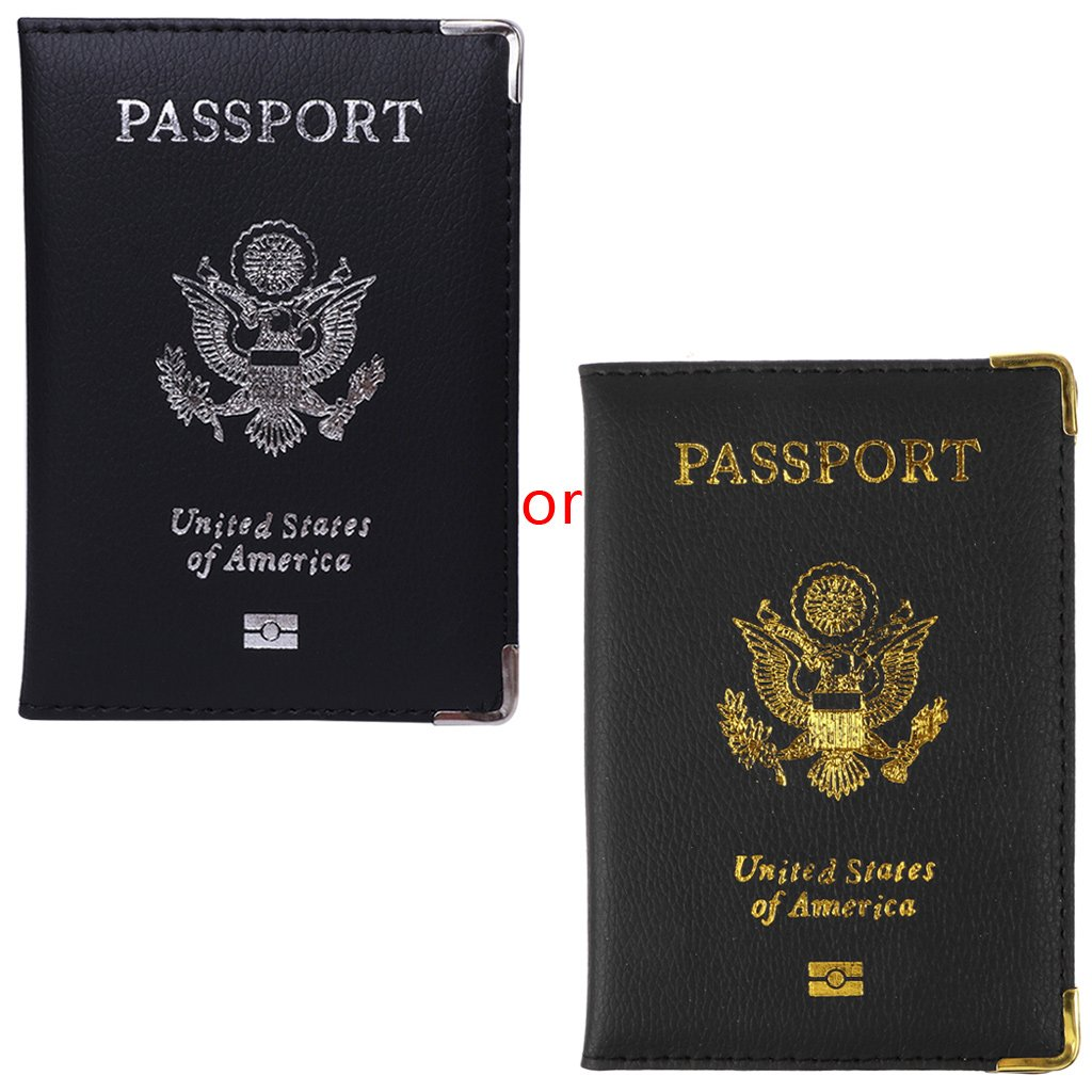 SimpleLif Passport Holder- for Men & Women - Travel Passport Protector Cover Wallet PU Leather Organizer Holder Card Case American Cover