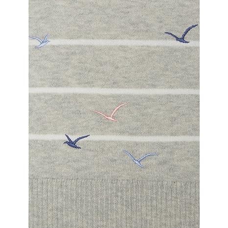 White Stuff Beflockung Vögel Damen Pullover Aw17 UK16 EU44