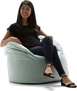 Big Joe 0680562 Stack Chair, Turquoise Plush Bean Bag