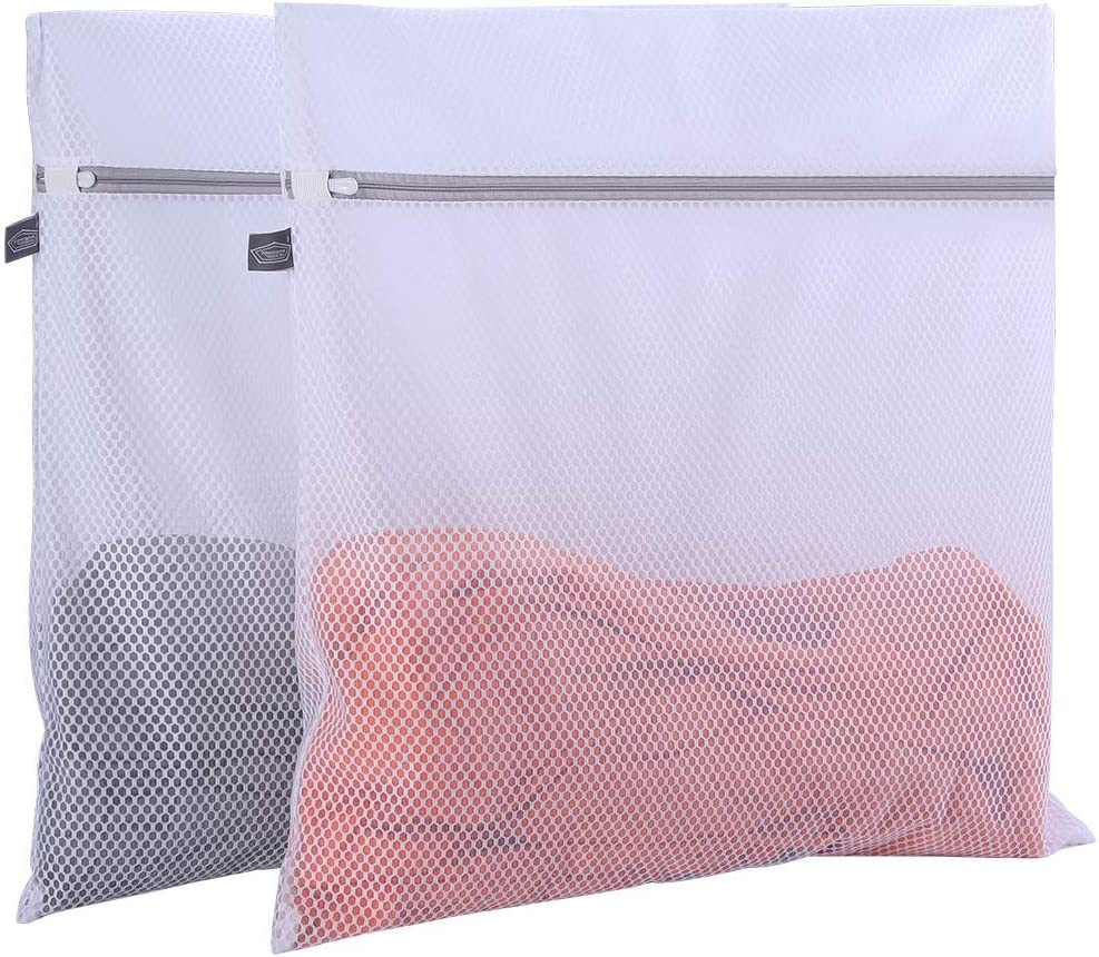 2 Pack Mesh Laundry Bag-2 XXL Oversize Delicates Laundry Bag-Extra Large Laundry Wash Bag with New Honeycomb Mesh-Big Clothes,Bed Sheet,Bedcover,Household,Stuffed Toys, Net Bags for Laundry