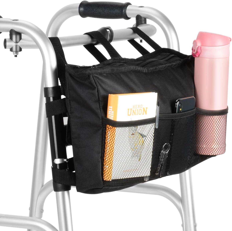 SupreGear Walker Bag, Bolsa de Asas para Organizador de Bolsas Plegables para Tipo de Andador con Ruedas y Silla de Ruedas, Lavable a Máquina