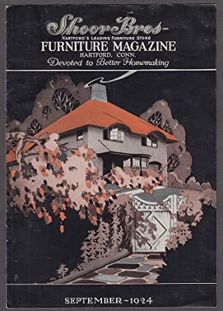 Shoor Bros Furniture Magazine 9 1924 Hartford CT Home Décor Woodcraft