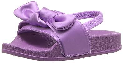 ae4e1f56493f Steve Madden Girls  TSILKY Slide Sandal Lilac 10 M US Toddler