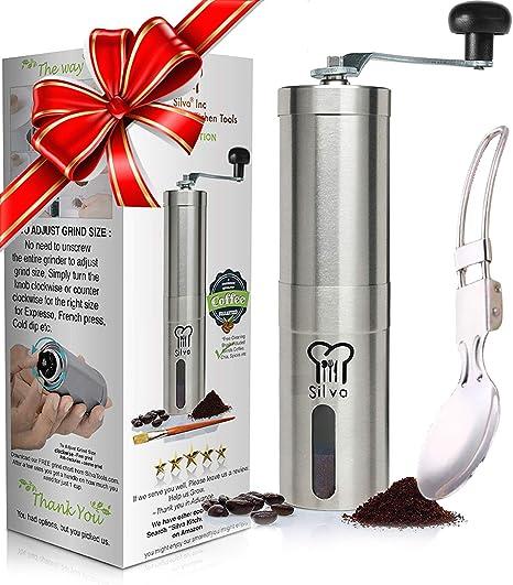 Amazon.com: Silva Juego de molinillo de café manual con café ...