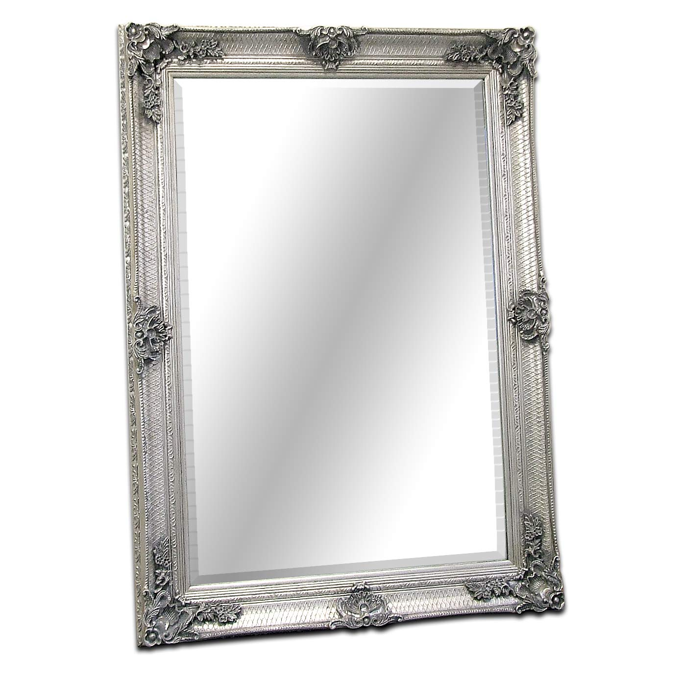0369d5cdcb23 Abbey Large Silver Shabby Chic Antique Style Wall Over Mantle Mirror - 31in  x 43in  Amazon.co.uk  Kitchen   Home