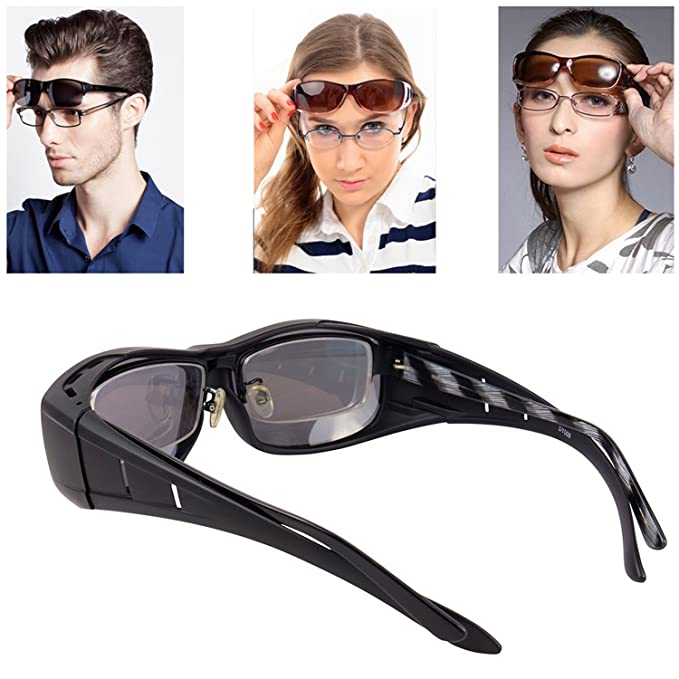 f8a4622346 Over Glasses Sunglasses Polarized for Men Women  Sunglasses Wear Over  fit  Over Prescription Glasses UV400 Outdoor Sports ...