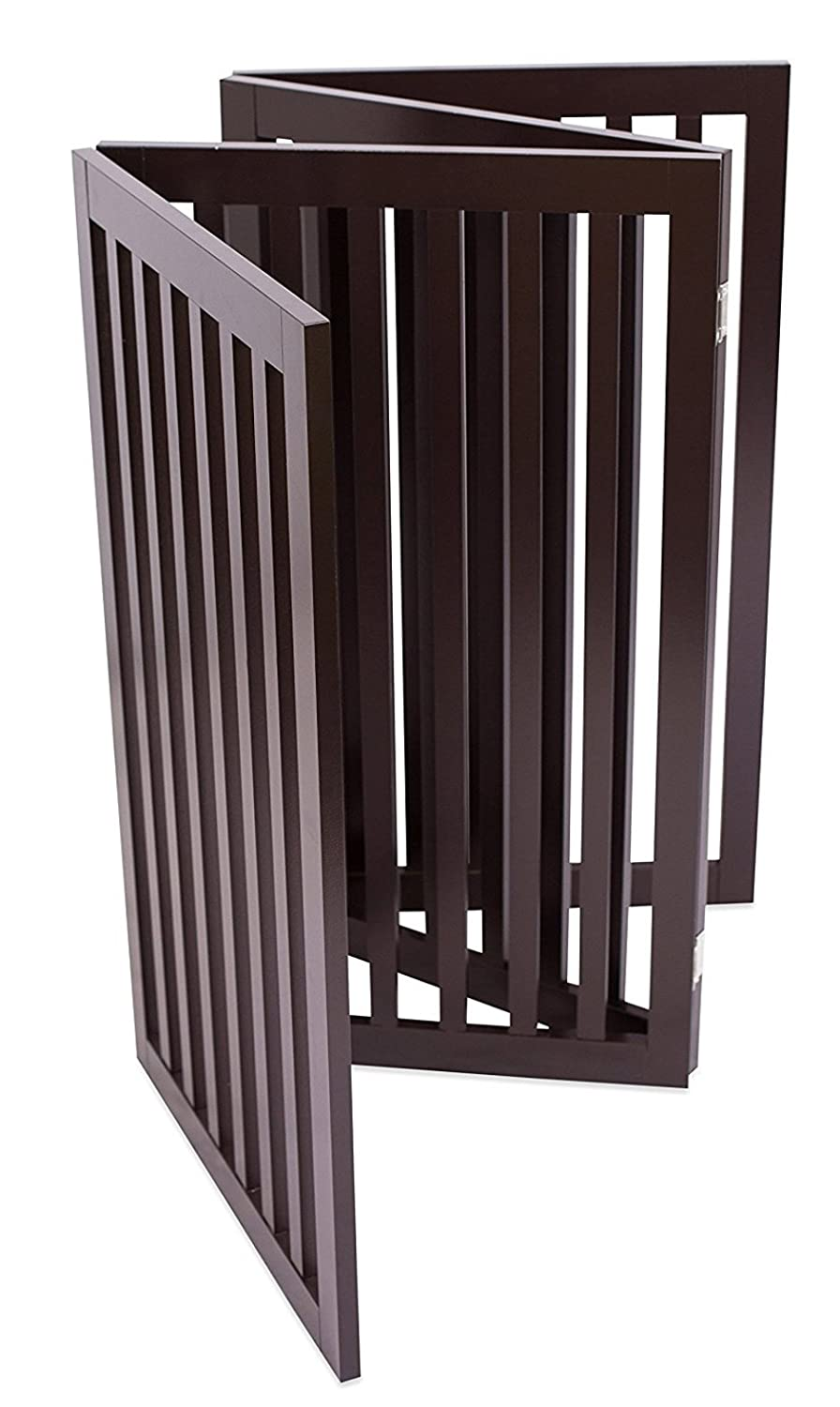 Dog Gate for Dogs Pet Indoor Collapsible Puppy Durable Solid Wood 4 Separate Panels Z-shape Pets Securely Confined Mega Sales Stores