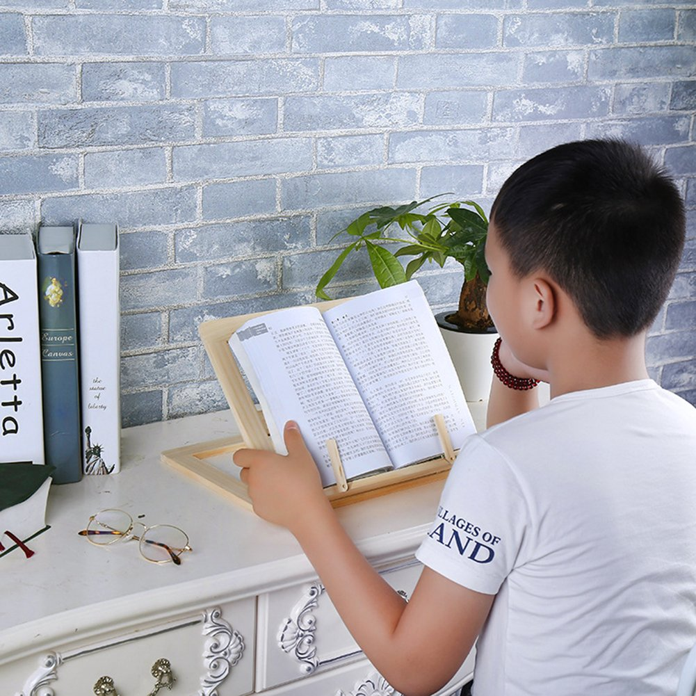 soporte de caballete ajustable para libros y iPads soporte de lectura plegable para encimera gaeruite Soporte de lectura de madera soporte multifuncional para libros de cocina